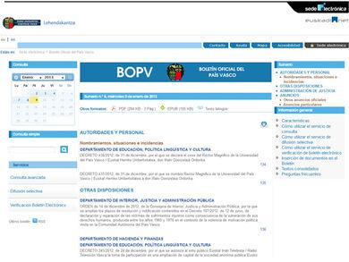 Boletín Oficial del País Vasco - BOPV